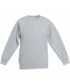 Lichtgrijze katoenmix sweater voor meisjes