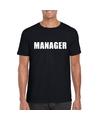 Manager tekst t shirt zwart heren