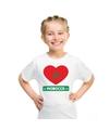 Marokko hart vlag t shirt wit jongens en meisjes
