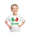 Mexico hart vlag t shirt wit jongens en meisjes
