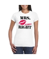 Mrs always right t shirt wit dames