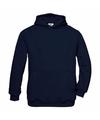 Navy blauwe katoenmix sweater met capuchon voor meisjes