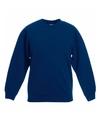 Navy blauwe katoenmix sweater voor meisjes