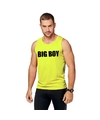 Neon geel sport shirt singlet big boy heren