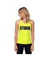 Neon geel sport shirt singlet stoer dames