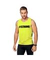 Neon geel sport shirt singlet strong heren