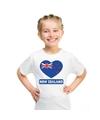 Nieuw zeeland hart vlag t shirt wit jongens en meisjes