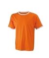 Oranje met wit heren t shirt