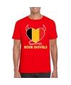 Rood belgie rode duivels hart shirt heren