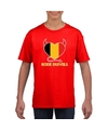 Rood belgie rode duivels hart shirt kinderen