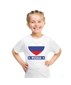 Rusland hart vlag t shirt wit jongens en meisjes