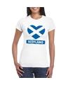 Schotland hart vlag t shirt wit dames