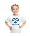 Schotland hart vlag t shirt wit jongens en meisjes