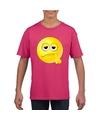 Smiley t shirt bedenkelijk roze kinderen
