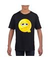 Smiley t shirt bedenkelijk zwart kinderen
