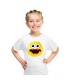 Smiley t shirt geschrokken wit kinderen