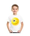 Smiley t shirt knipoog wit kinderen