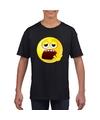 Smiley t shirt moe zwart kinderen