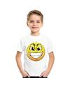 Smiley t shirt ondeugend wit kinderen