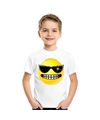 Smiley t shirt stoer wit kinderen