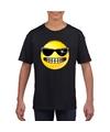 Smiley t shirt stoer zwart kinderen