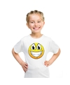 Smiley t shirt super vrolijk wit kinderen
