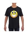 Smiley t shirt super vrolijk zwart kinderen