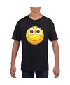 Smiley t shirt verliefd zwart kinderen