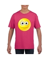 Smiley t shirt vrolijk roze kinderen