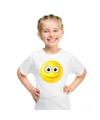 Smiley t shirt vrolijk wit kinderen