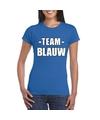 Sportdag team blauw shirt dames
