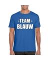 Sportdag team blauw shirt heren