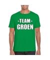 Sportdag team groen shirt heren