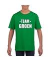 Sportdag team groen shirt kinderen