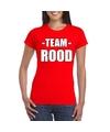 Sportdag team rood shirt dames
