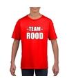 Sportdag team rood shirt kinderen