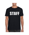 Staff tekst t shirt zwart heren