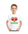 Suriname hart vlag t shirt wit jongens en meisjes