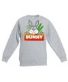 Sweater grijs voor kinderen met bunny het konijn