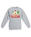 Sweater grijs voor kinderen met chicky de kip