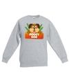 Sweater grijs voor kinderen met doggy dog de hond