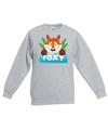 Sweater grijs voor kinderen met foxy de vos