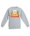 Sweater grijs voor kinderen met lammy het schaapje