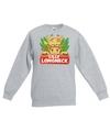 Sweater grijs voor kinderen met lilly longneck de giraffe