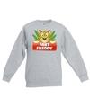 Sweater grijs voor kinderen met luipaard fast freddy