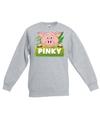 Sweater grijs voor kinderen met pinky de big