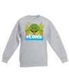 Sweater grijs voor kinderen met plons de kikker