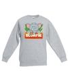 Sweater grijs voor kinderen met slurfie de olifant