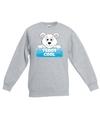 Sweater grijs voor kinderen met teddy cool de ijsbeer