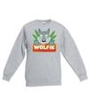 Sweater grijs voor kinderen met wolfie de wolf